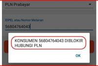 nomor pln diblokir