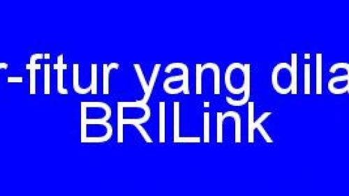 Daftar fitur-fitur yang dilayani Agen BRILink