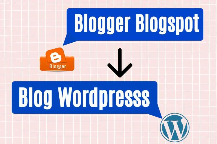 cara migrasi blogger custom domain ke wordpress