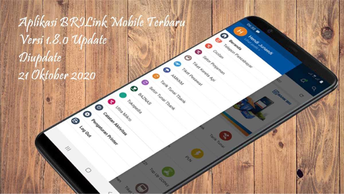 Fitur baru aplikasi BRILink versi 1.8.0 2021