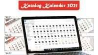 download templat kalender 2021 cdr corel draw
