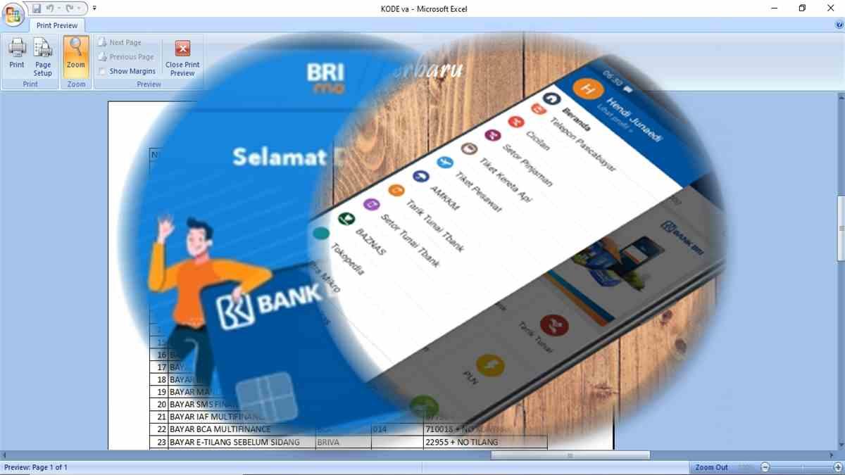 Kode Transaksi BRIVA BRILink BRI Dan Virtual Account Bank Lain