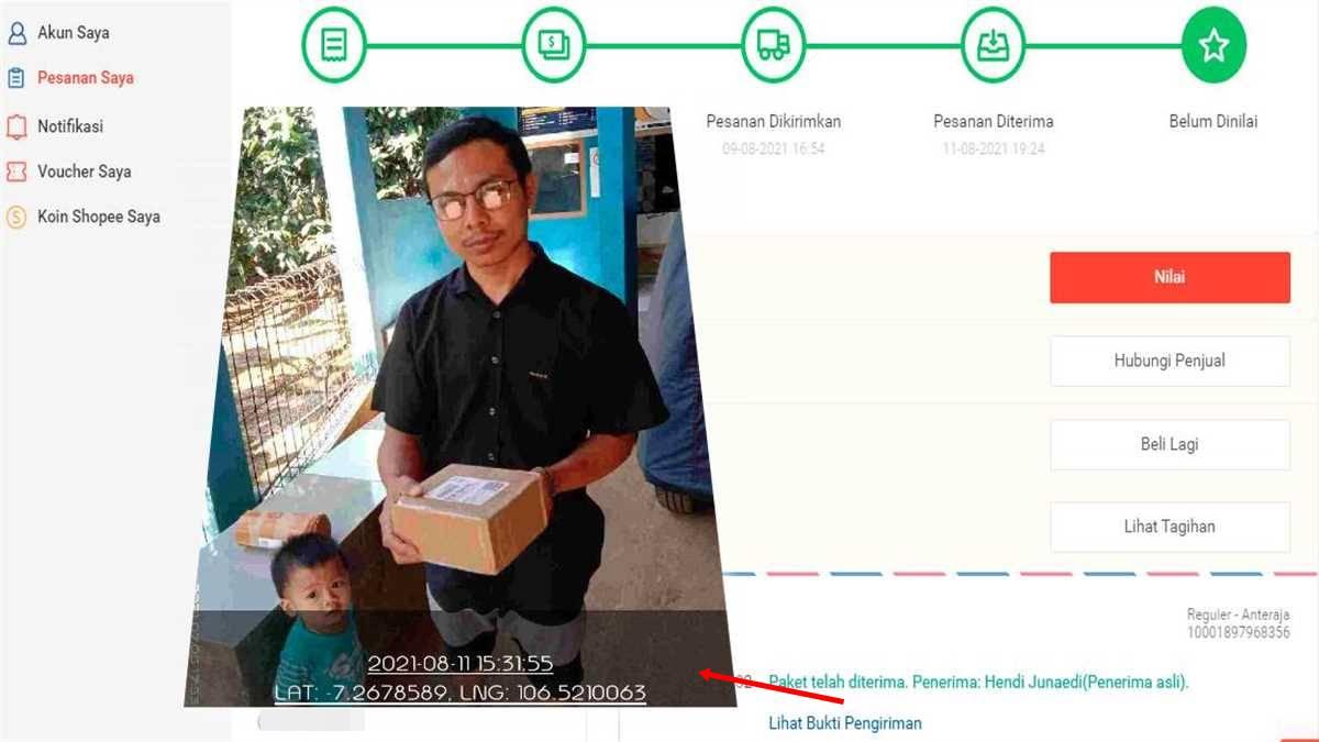 tracking paket aplikasi shopee
